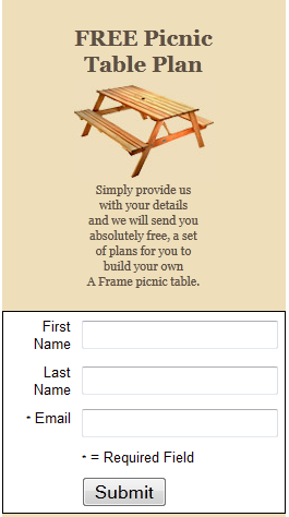 plans building a wood picnic table